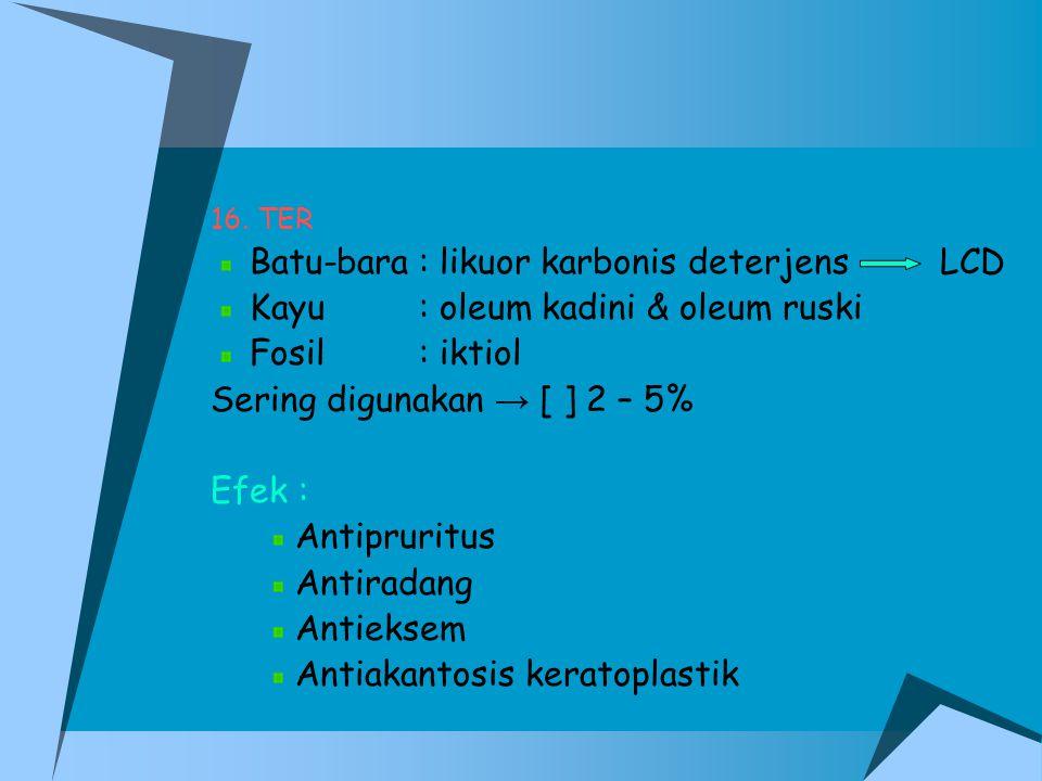 Batu-bara : likuor karbonis deterjens LCD