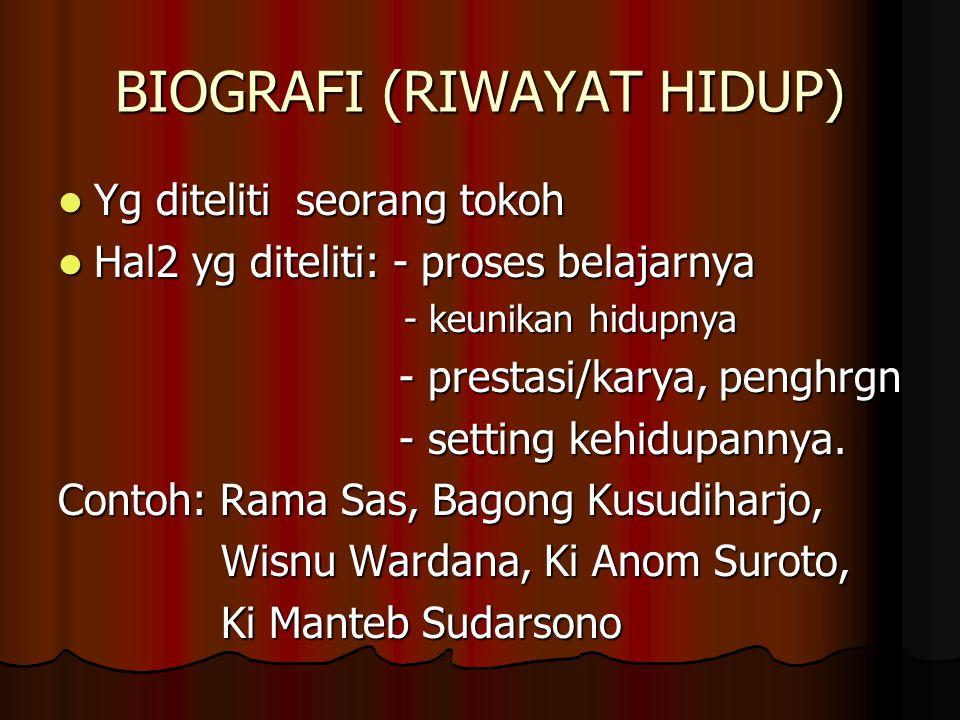 BIOGRAFI (RIWAYAT HIDUP)
