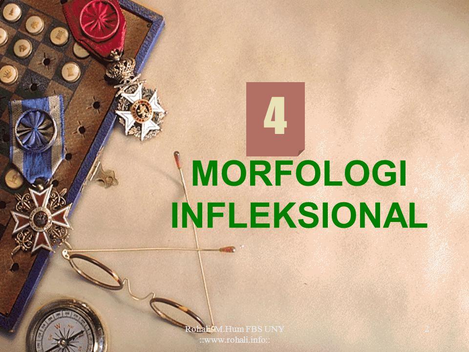 MORFOLOGI INFLEKSIONAL