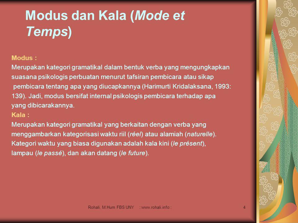 Modus dan Kala (Mode et Temps)