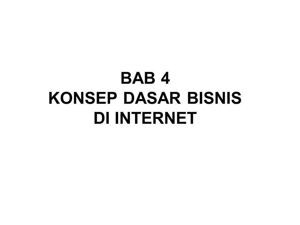 BAB 4 KONSEP DASAR BISNIS DI INTERNET