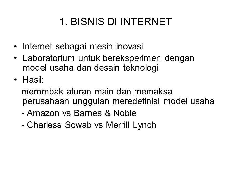 1. BISNIS DI INTERNET Internet sebagai mesin inovasi