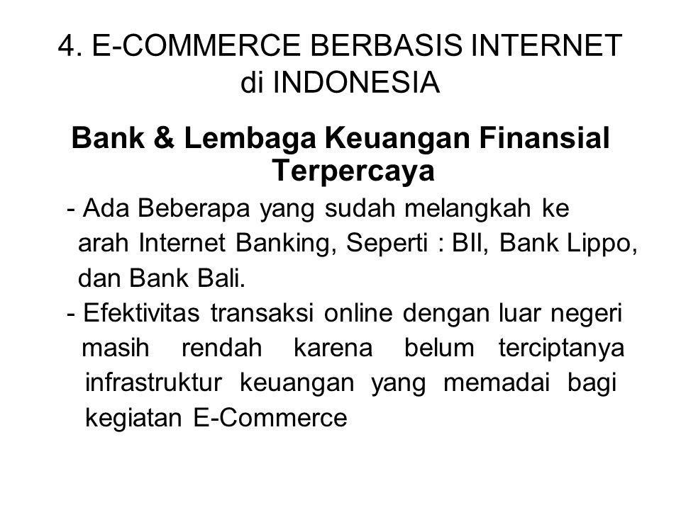 4. E-COMMERCE BERBASIS INTERNET di INDONESIA
