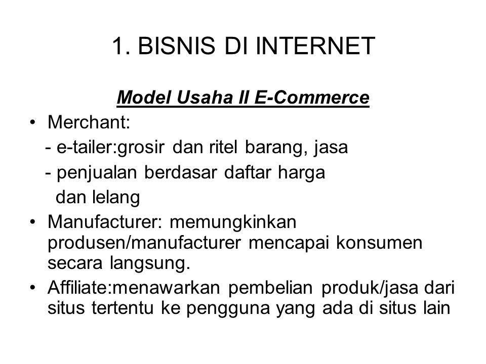 Model Usaha II E-Commerce