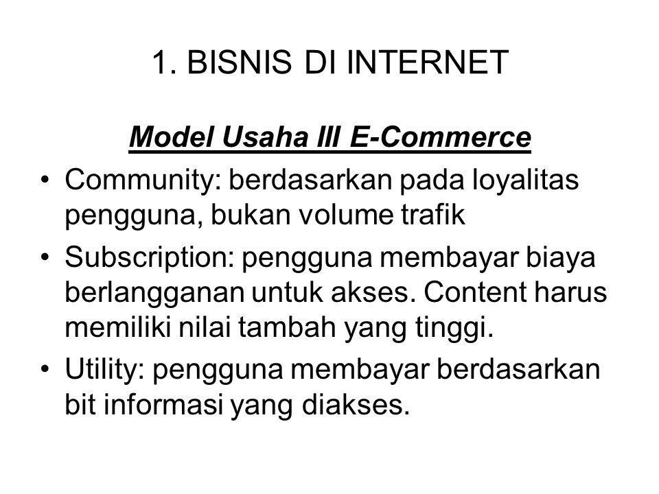Model Usaha III E-Commerce