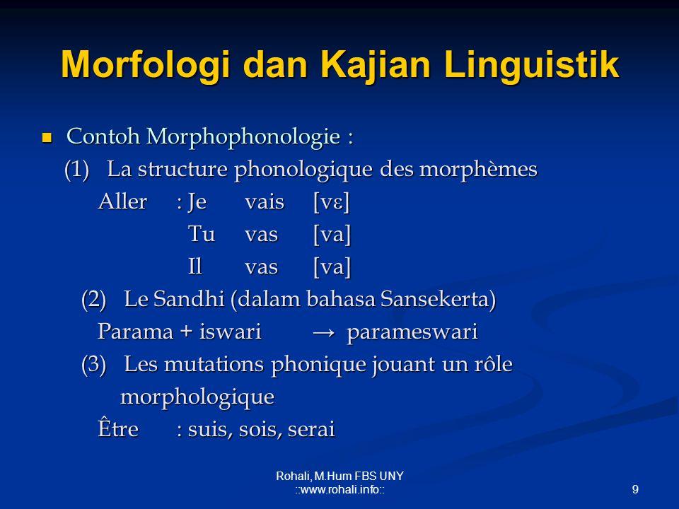 Morfologi dan Kajian Linguistik