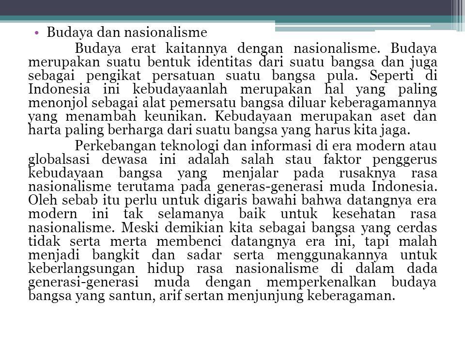 Budaya dan nasionalisme