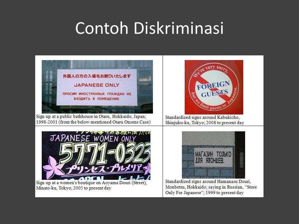Contoh Diskriminasi