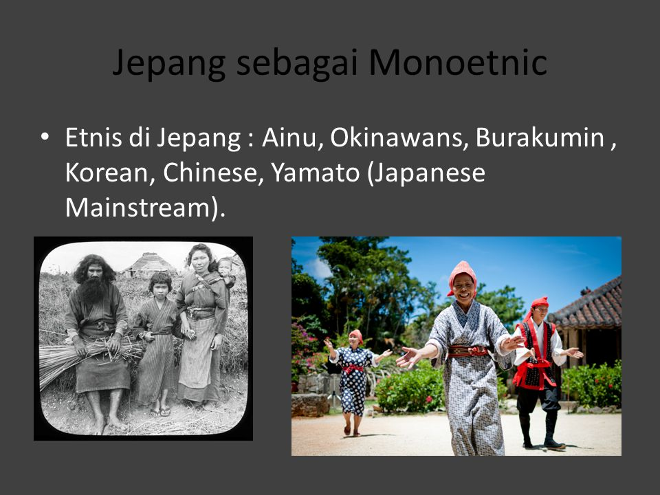 Jepang sebagai Monoetnic