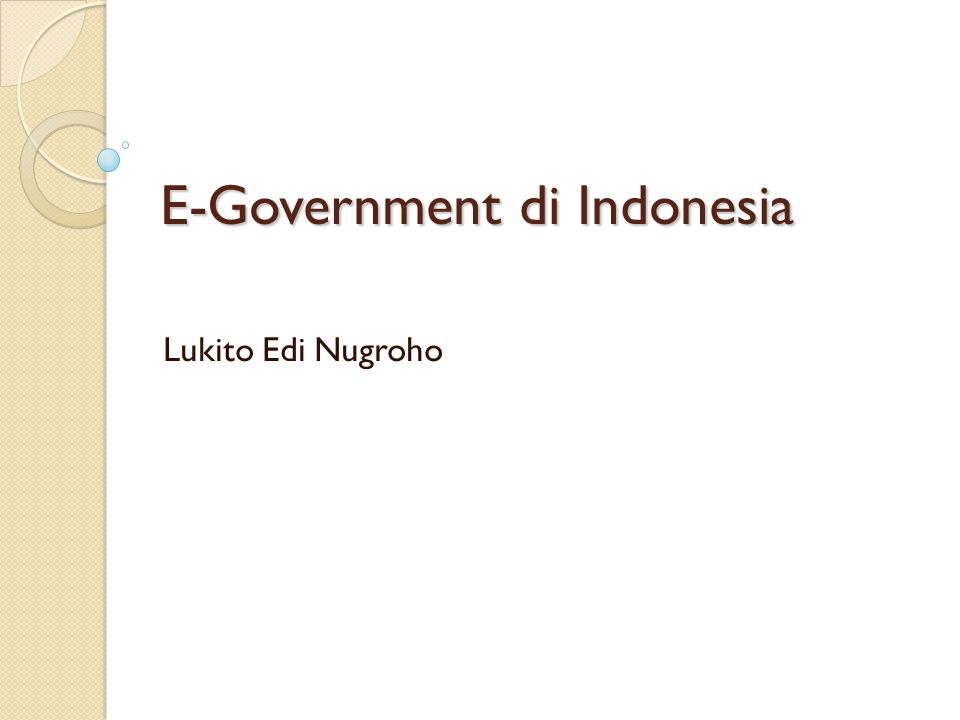 E-Government di Indonesia