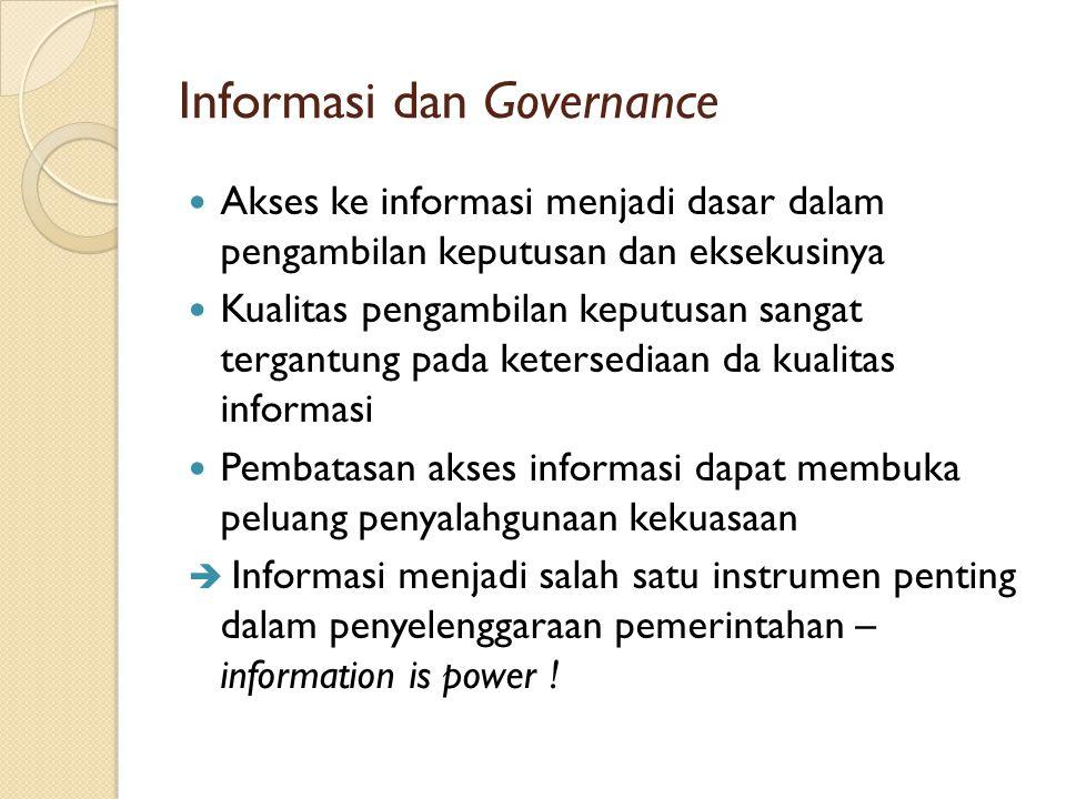 Informasi dan Governance