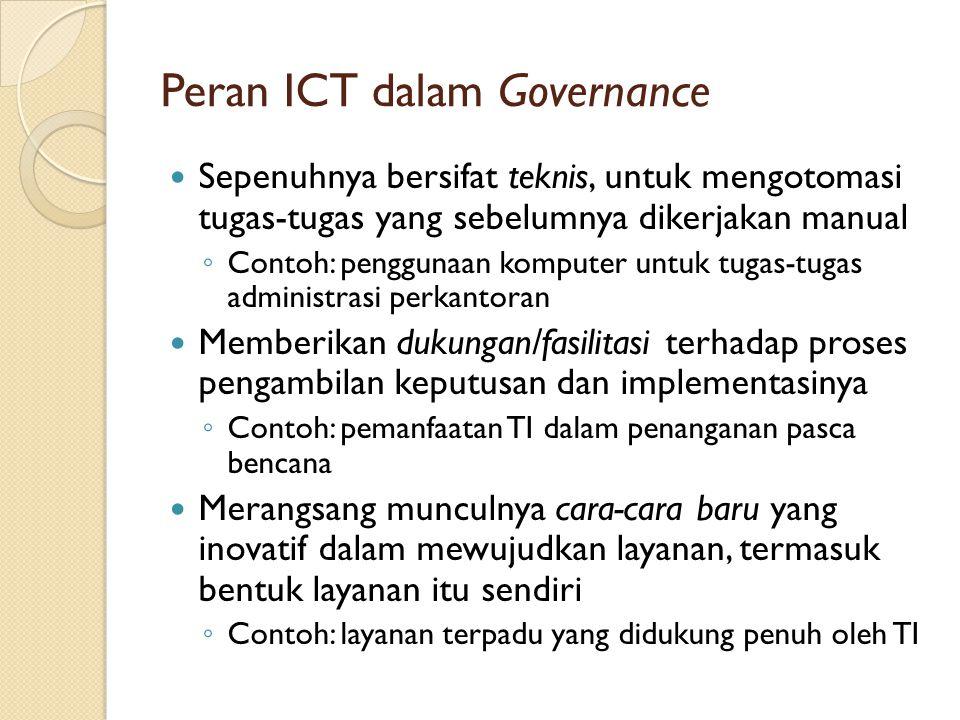 Peran ICT dalam Governance