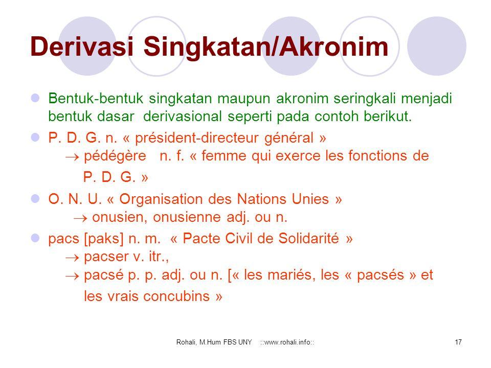 Derivasi Singkatan/Akronim