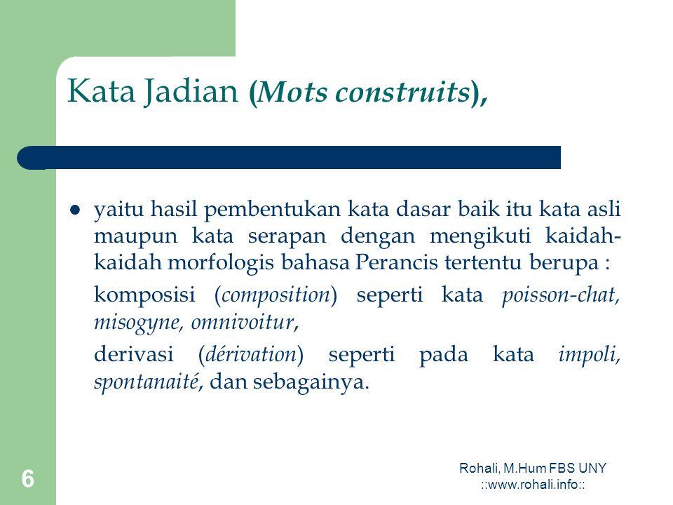 Kata Jadian (Mots construits),