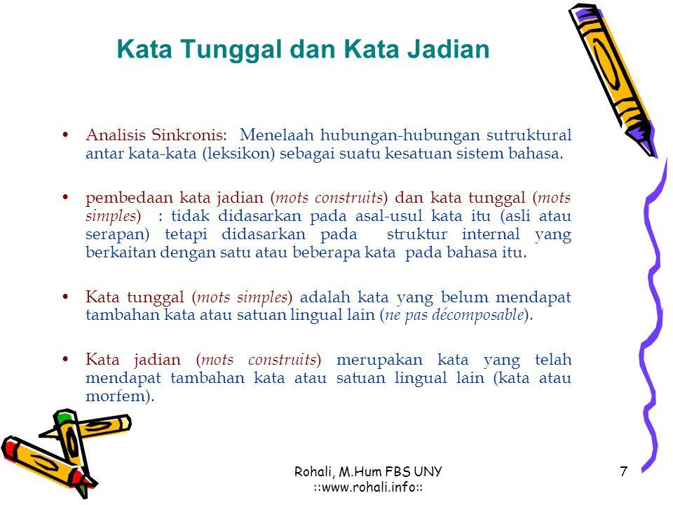 Kata Tunggal dan Kata Jadian