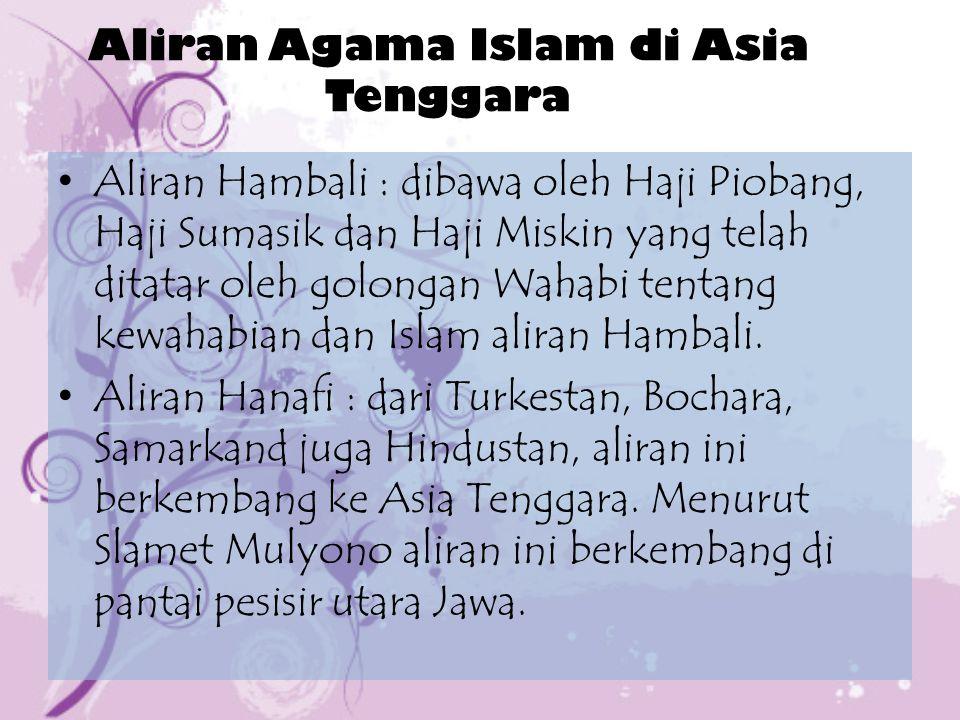 Aliran Agama Islam di Asia Tenggara