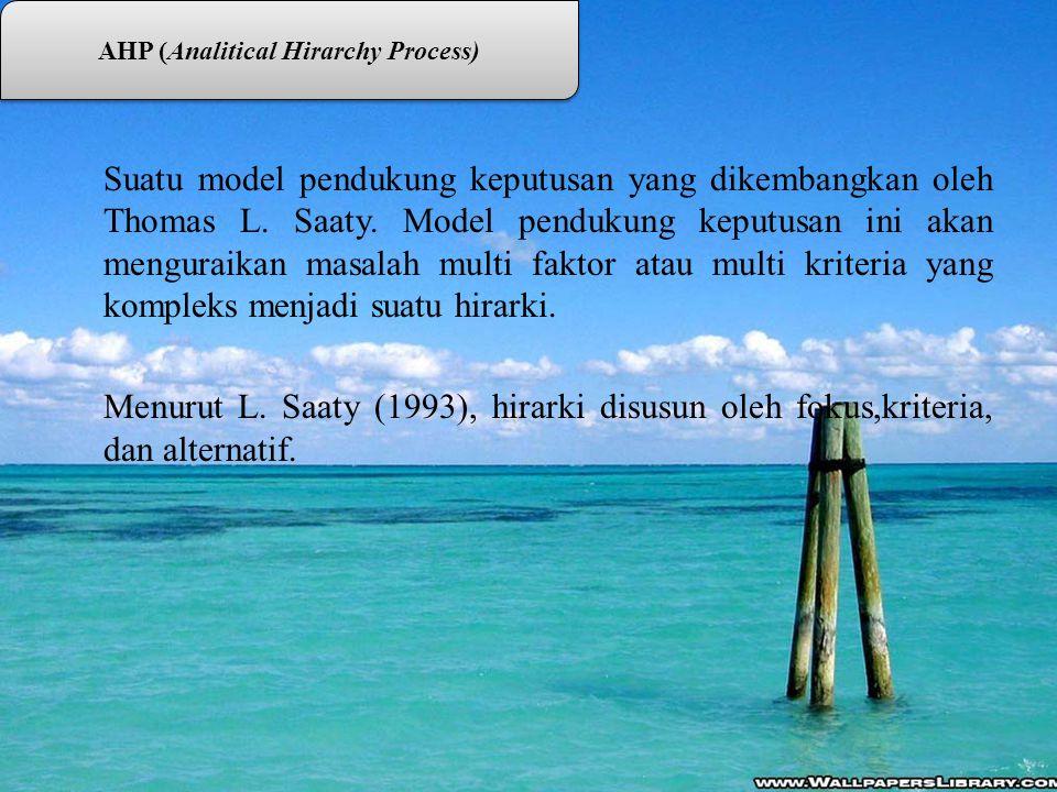 AHP (Analitical Hirarchy Process)