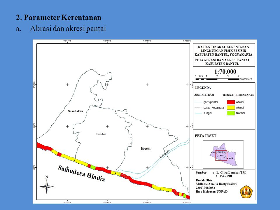 2. Parameter Kerentanan Abrasi dan akresi pantai