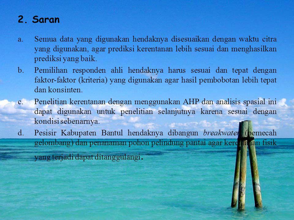 2. Saran