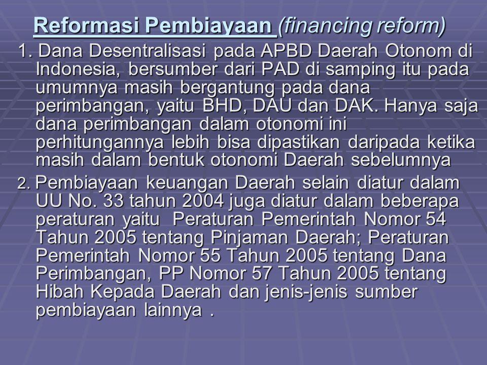 Reformasi Pembiayaan (financing reform)
