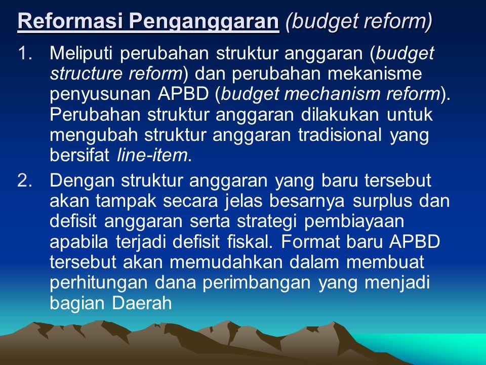 Reformasi Penganggaran (budget reform)