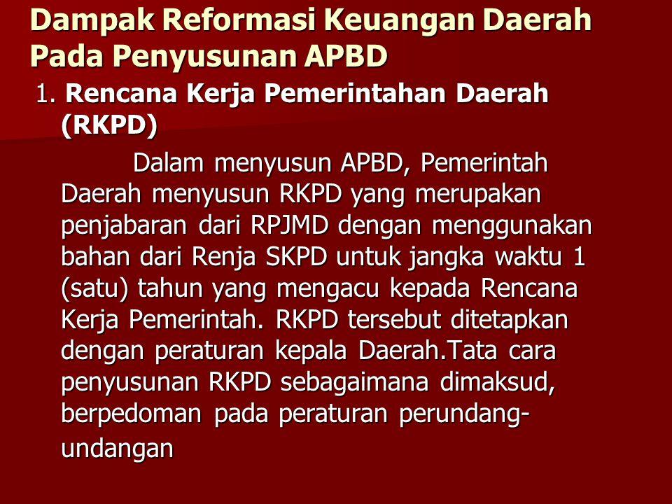 Dampak Reformasi Keuangan Daerah Pada Penyusunan APBD