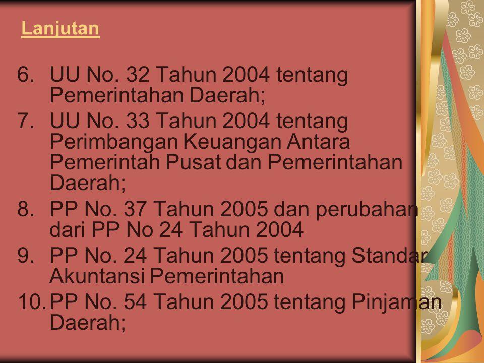 UU No. 32 Tahun 2004 tentang Pemerintahan Daerah;