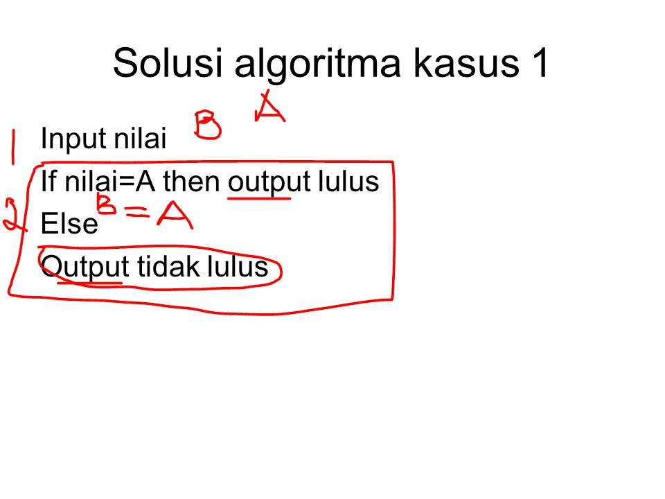 Solusi algoritma kasus 1