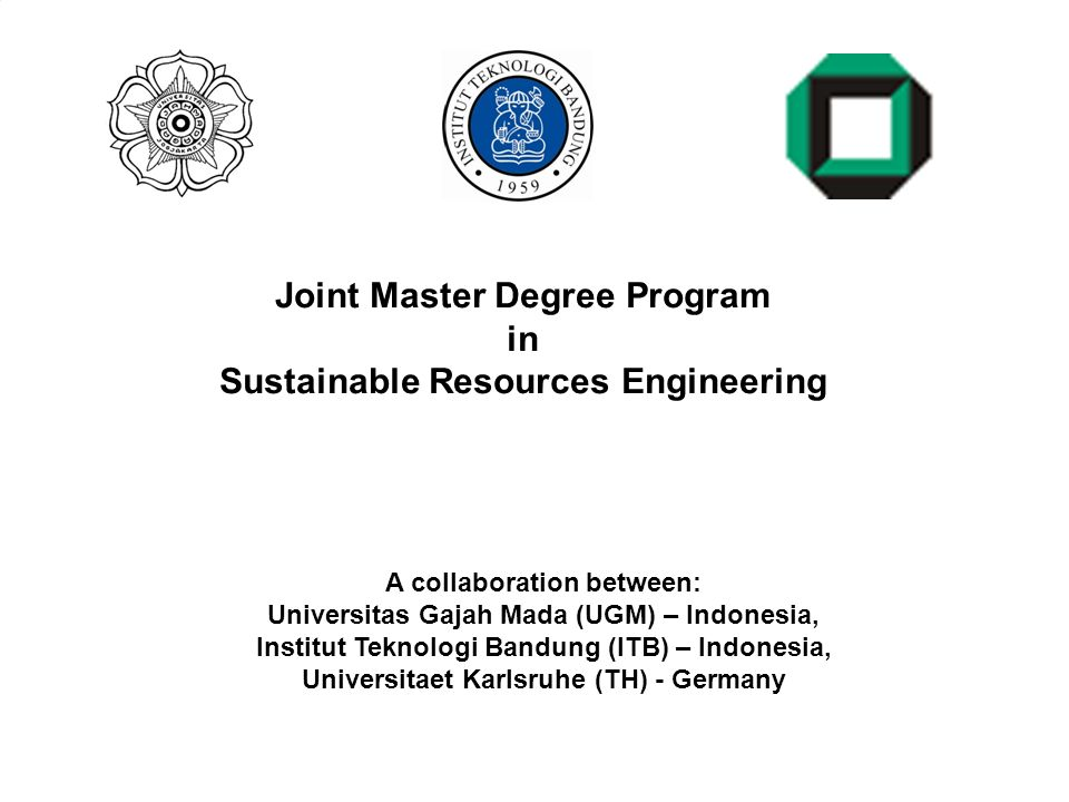 Joint Master Degree Program in Sustainable Resources Engineering