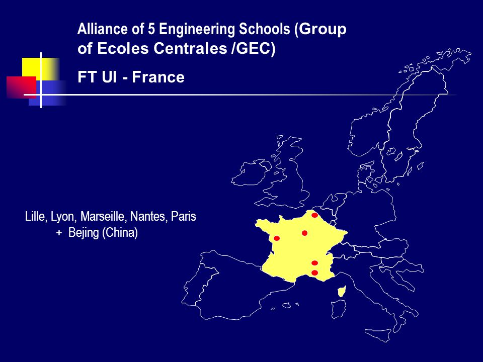 Alliance of 5 Engineering Schools (Group of Ecoles Centrales /GEC)