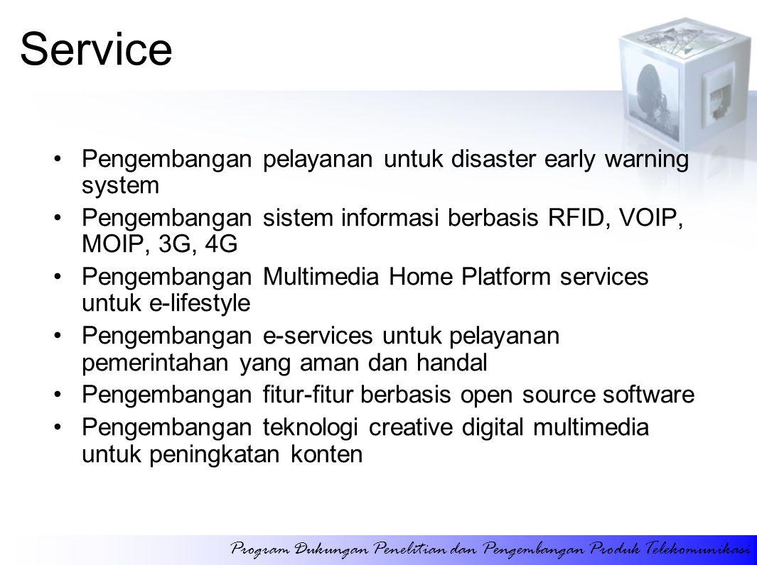 Service Pengembangan pelayanan untuk disaster early warning system