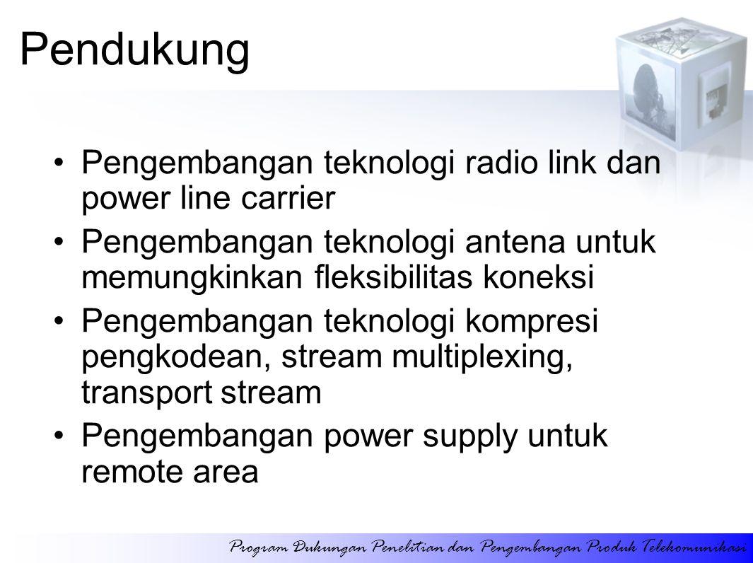 Pendukung Pengembangan teknologi radio link dan power line carrier