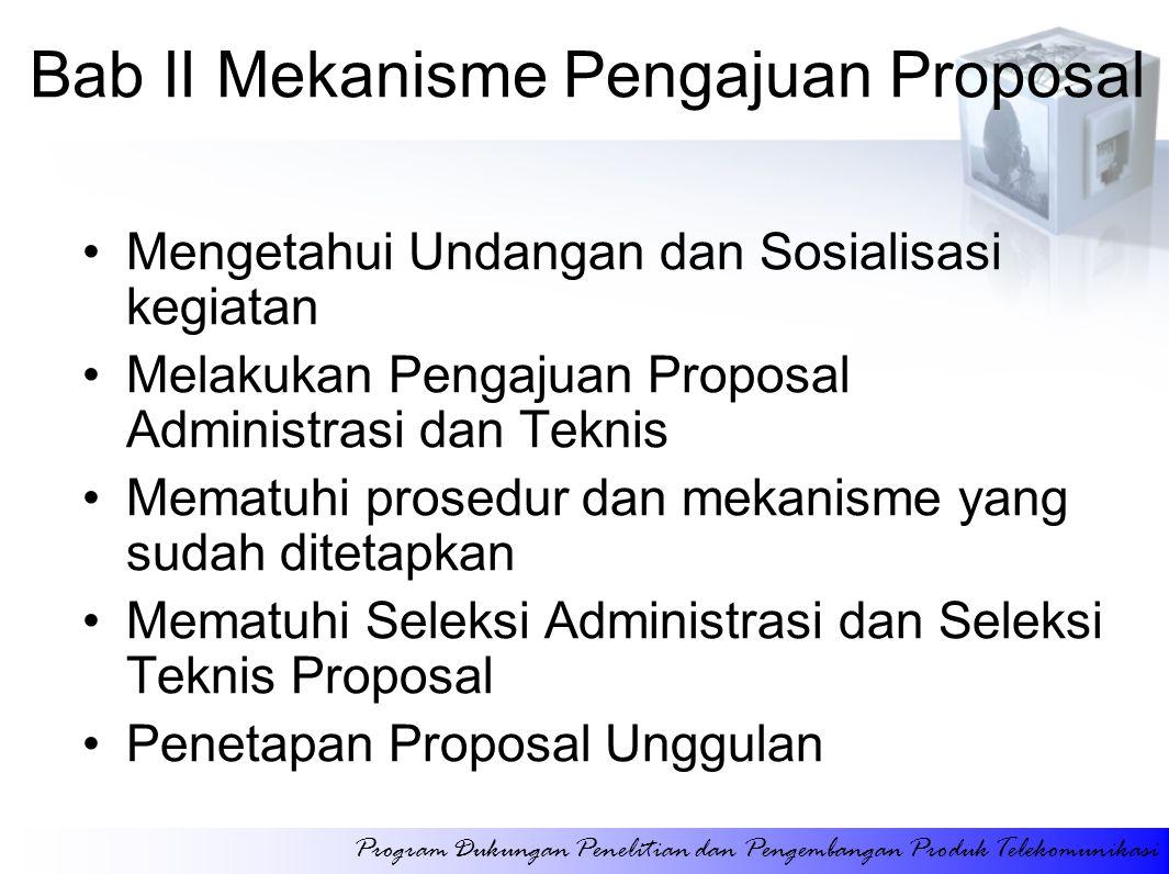 Bab II Mekanisme Pengajuan Proposal
