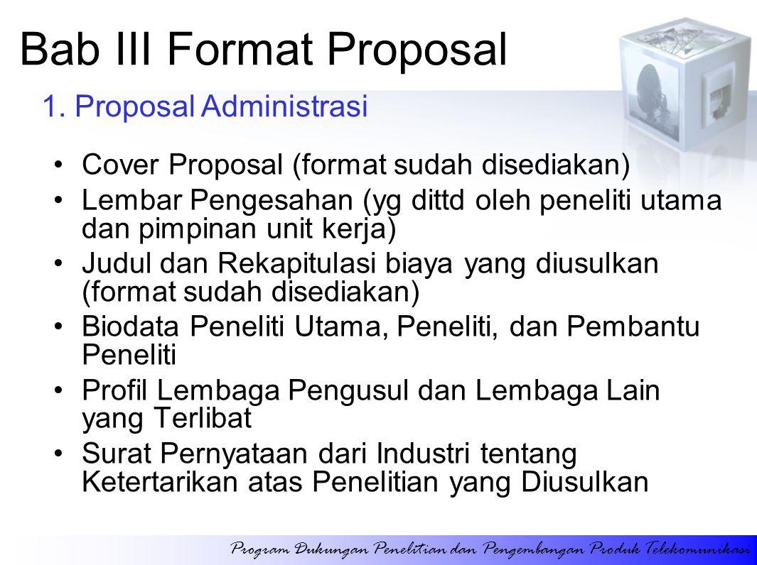 Bab III Format Proposal
