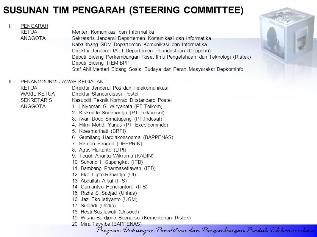 SUSUNAN TIM PENGARAH (STEERING COMMITTEE)