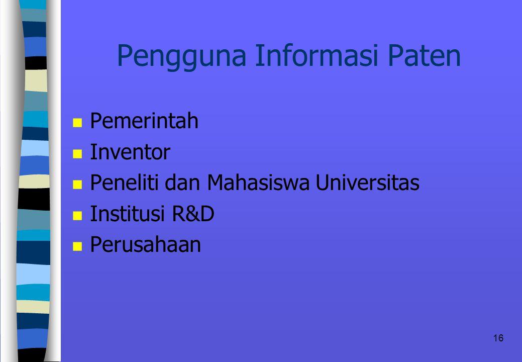 Pengguna Informasi Paten