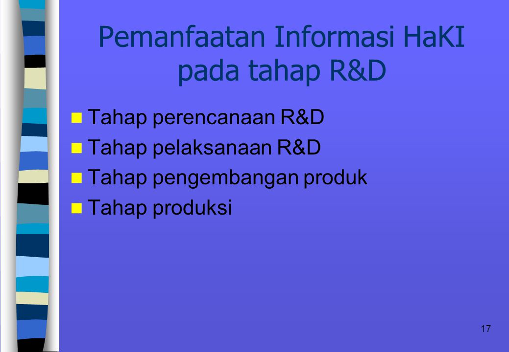 Pemanfaatan Informasi HaKI pada tahap R&D