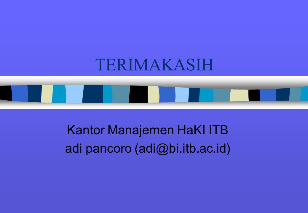 Kantor Manajemen HaKI ITB adi pancoro (adi@bi.itb.ac.id)
