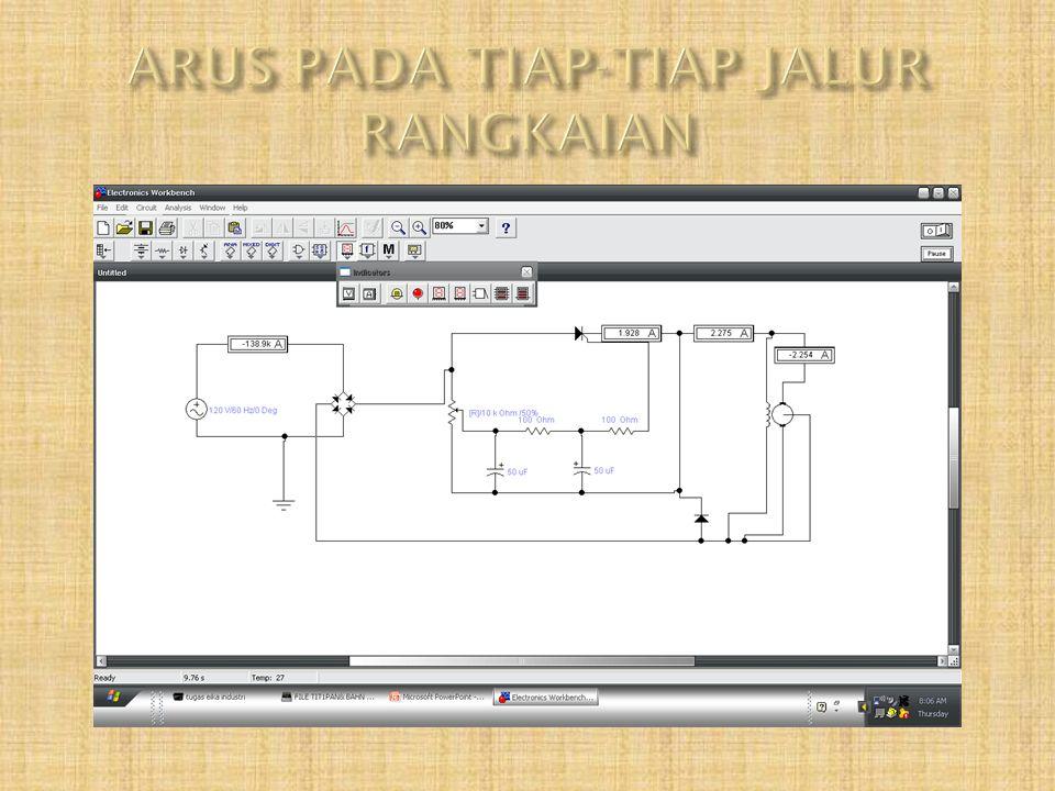 ARUS PADA TIAP-TIAP JALUR RANGKAIAN