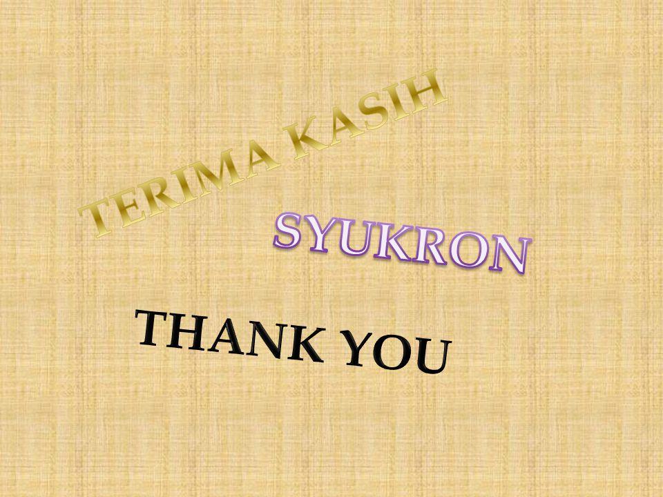 TERIMA KASIH SYUKRON THANK YOU
