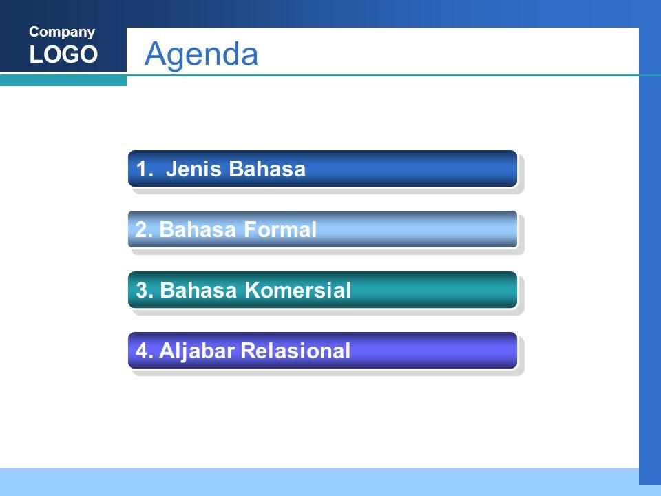 Agenda 1. Jenis Bahasa 2. Bahasa Formal 3. Bahasa Komersial