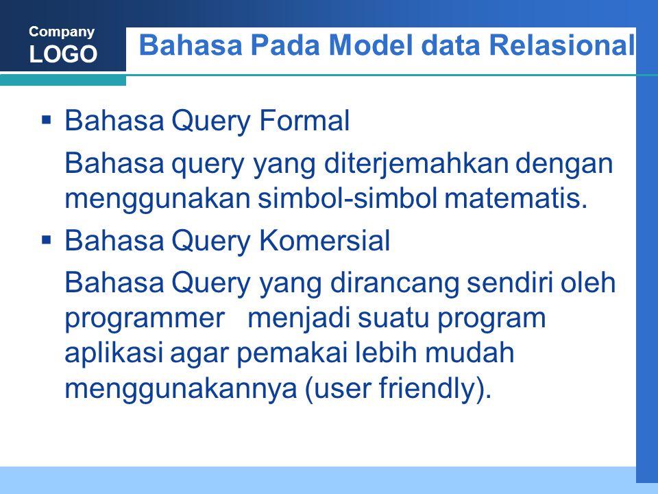 Bahasa Pada Model data Relasional