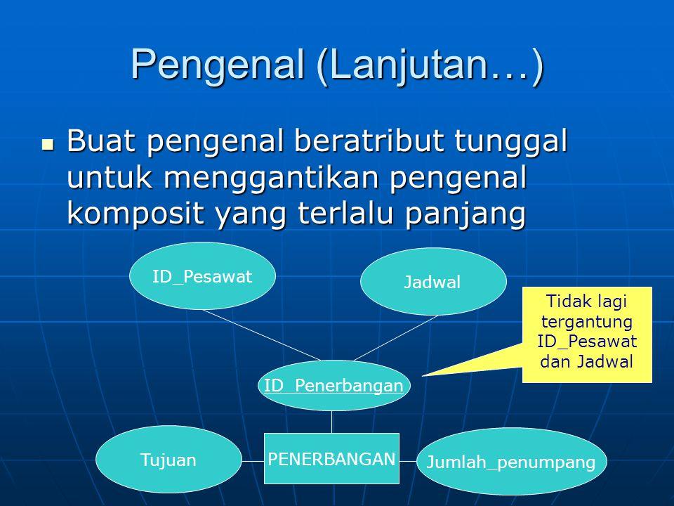 Tidak lagi tergantung ID_Pesawat dan Jadwal