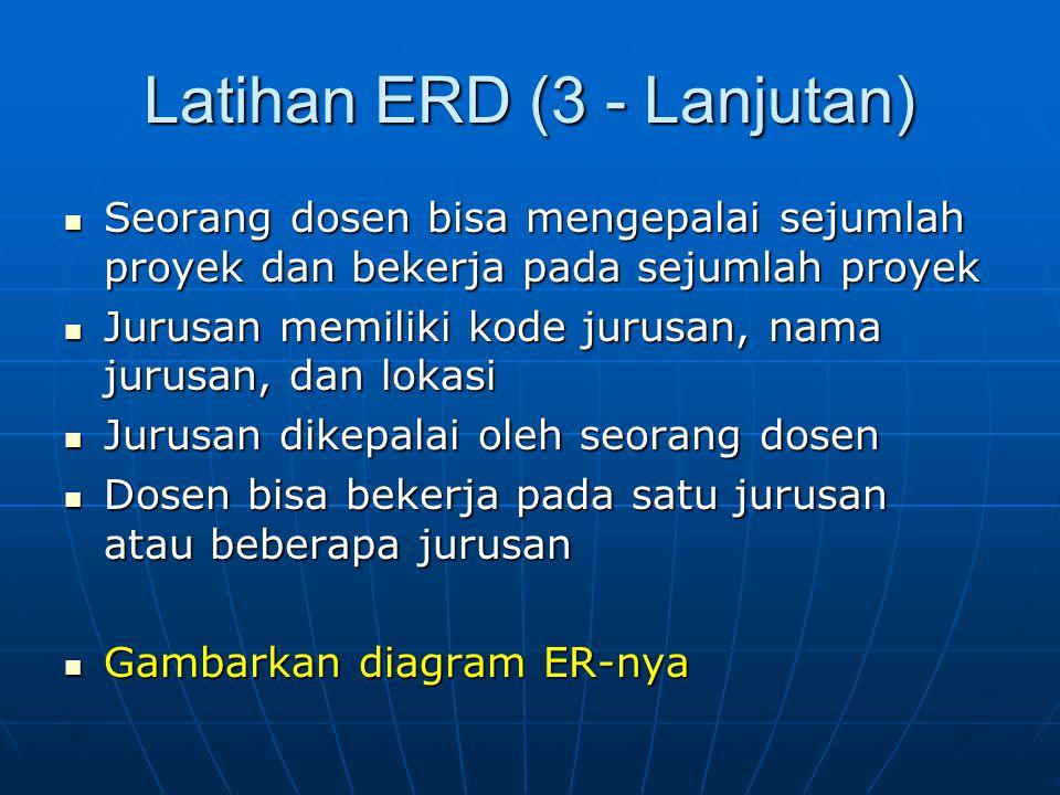 Latihan ERD (3 - Lanjutan)