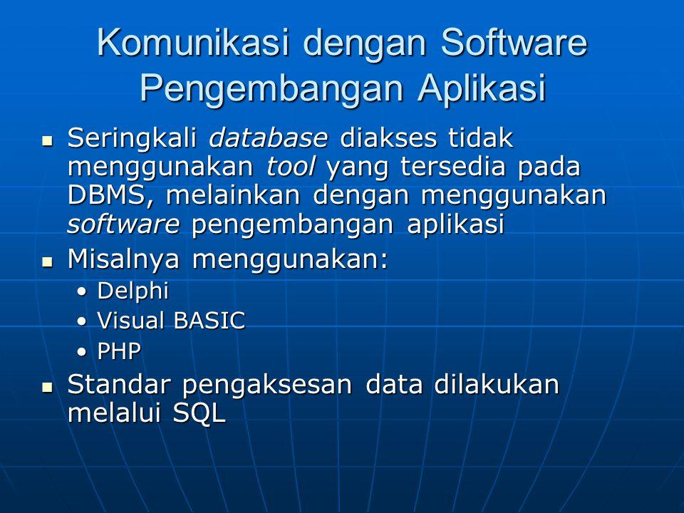 Komunikasi dengan Software Pengembangan Aplikasi