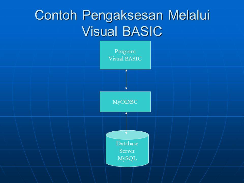 Contoh Pengaksesan Melalui Visual BASIC
