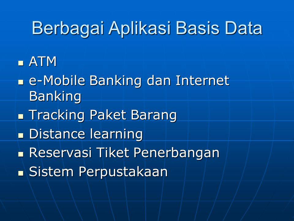 Berbagai Aplikasi Basis Data