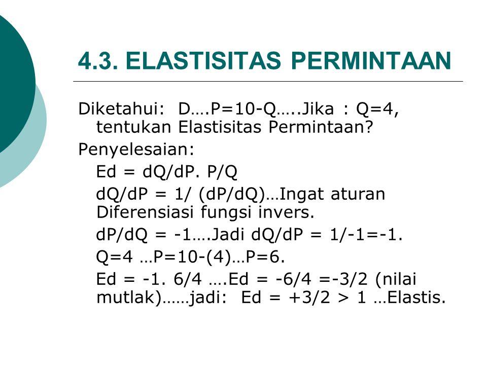 4.3. ELASTISITAS PERMINTAAN