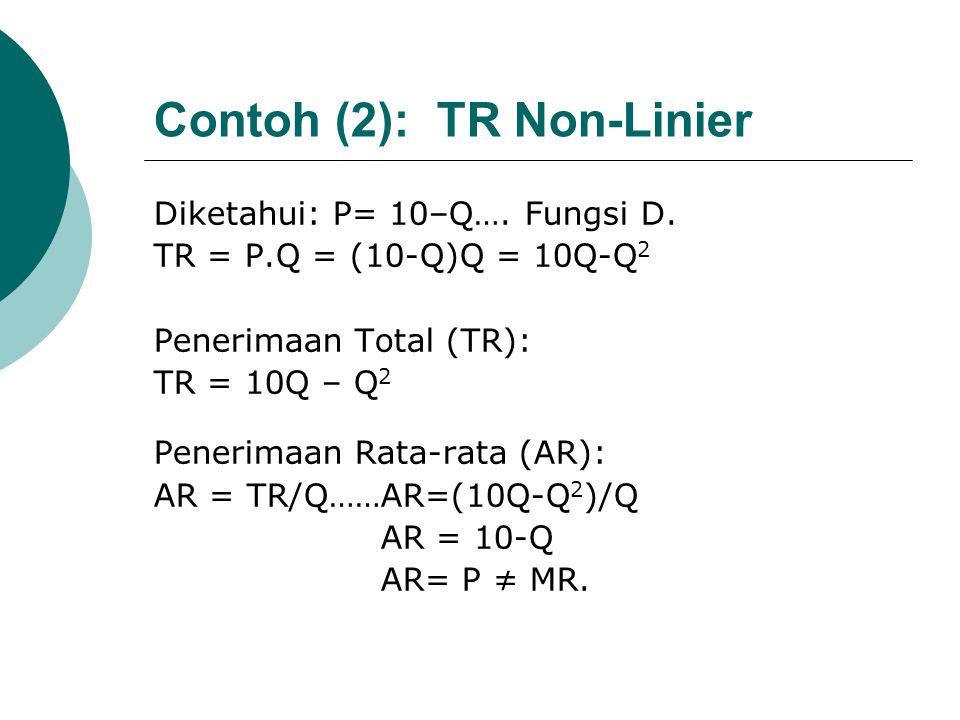 Contoh (2): TR Non-Linier