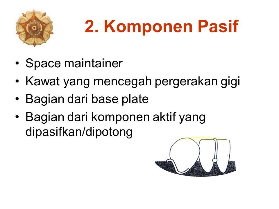 2. Komponen Pasif Space maintainer Kawat yang mencegah pergerakan gigi